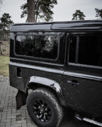 Land Rover Defender 110 Black Design Edition on the road